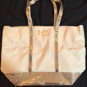 Gold sparkly Victoria's Secret bag!